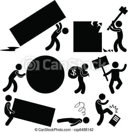 ärger, arbeit, geschaeftswelt, belasten, leute - csp6488142