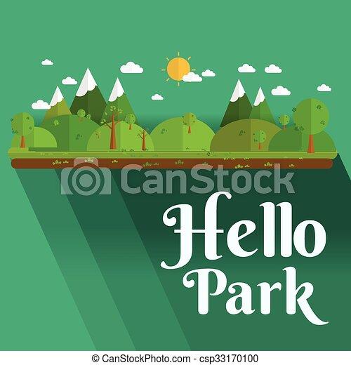 Öffentlicher Park in der Stadt. - csp33170100