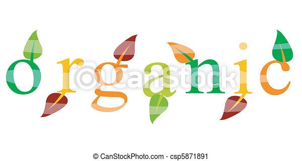 Ökologische organische Ikone - csp5871891