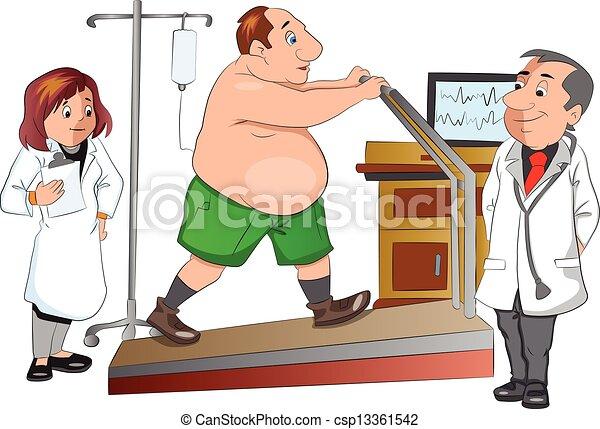 Körperliche Untersuchung, Illustration - csp13361542
