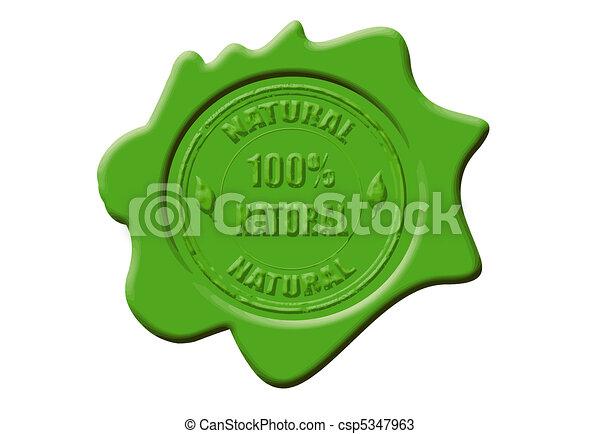 100% natürliches Wachssiegel - csp5347963