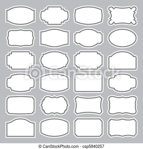 24 Blankoschecks (Vektor) - csp5840257
