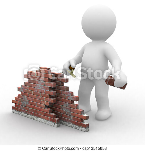 3D Bauarbeiter - csp13515853