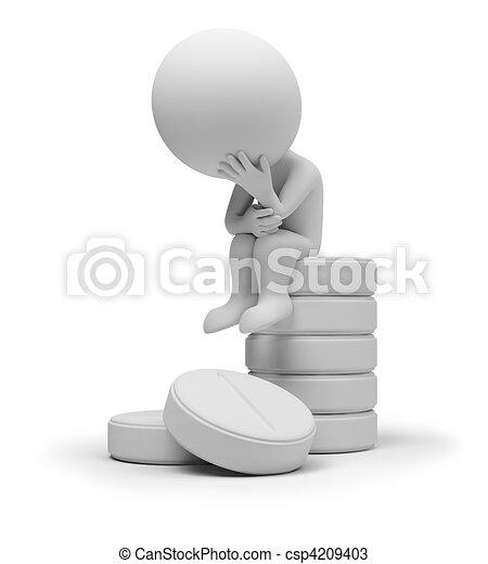 3d kleine Leute auf Tablets - csp4209403