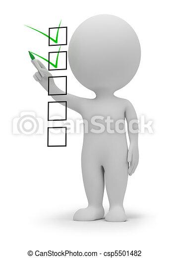 3d kleine Leute - Checkliste - csp5501482