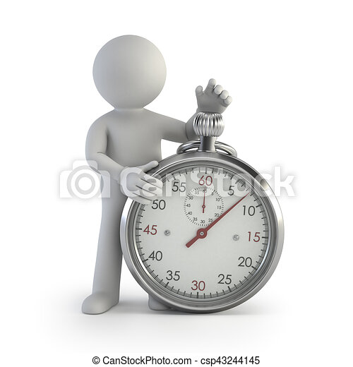 3d kleine Leute - Chronometer. - csp43244145