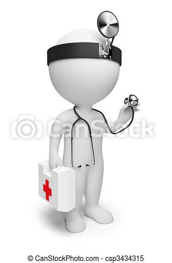 3d kleine Leute - Doktor - csp3434315
