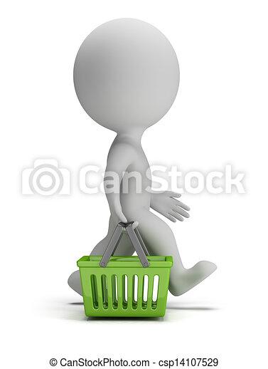 3d kleine Leute - Einkaufskorb - csp14107529