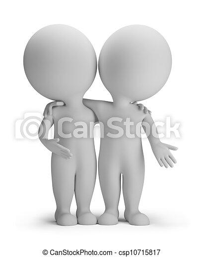3d kleine Leute - Freunde - csp10715817