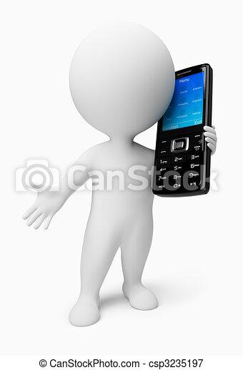 3d kleine Leute - Handy - csp3235197