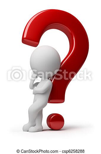 3d kleine Leute - komplizierte Frage - csp6258288