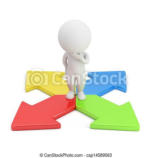 3d kleine Leute - Richtungswahl - csp14589563