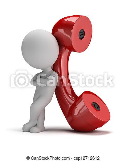 3d kleine Leute - rufen Sie mich an - csp12712612
