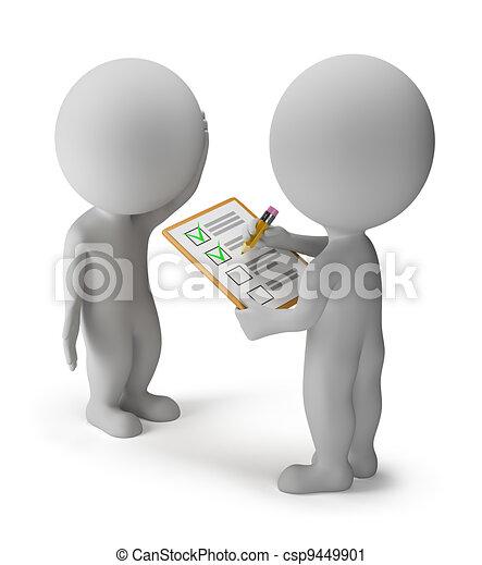3d kleine Leute - Umfragen - csp9449901