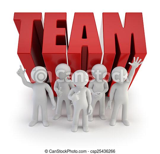 3d kleine Leute - zuverlässiges Team. - csp25436266