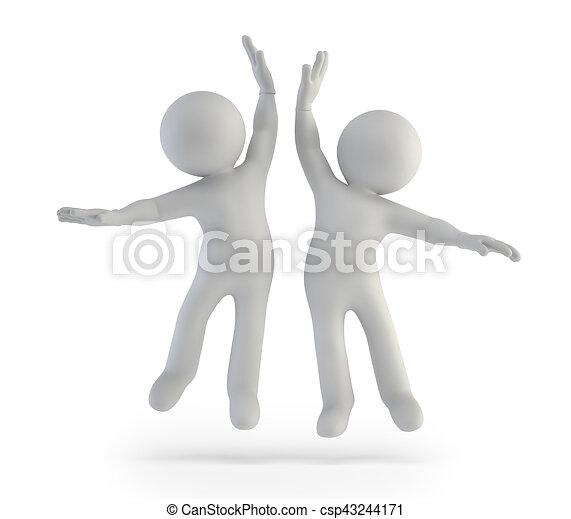 3d kleine Menschen - Erfolg. - csp43244171
