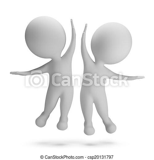 3d kleine Menschen - Erfolg - csp20131797