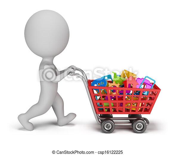 3d kleine Menschen - gekaufte Anwendungen - csp16122225