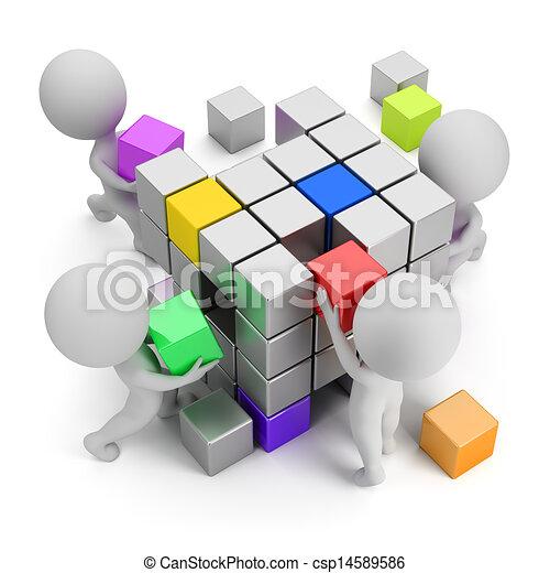 3d kleine Menschen - Konzept der Schaffung - csp14589586