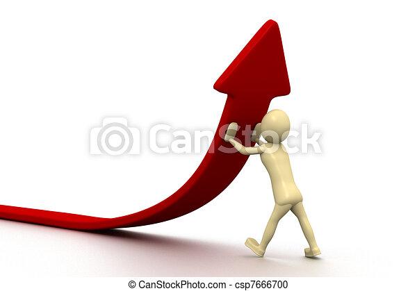 3d kleine Menschen - Statistiken - csp7666700