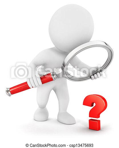 3d Weiße, kleine Frage - csp13475693