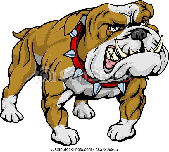 abbildung, clipart, bulldogge - csp7209985