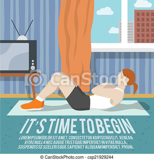 Abs Training Fitness-Poster. - csp21929244