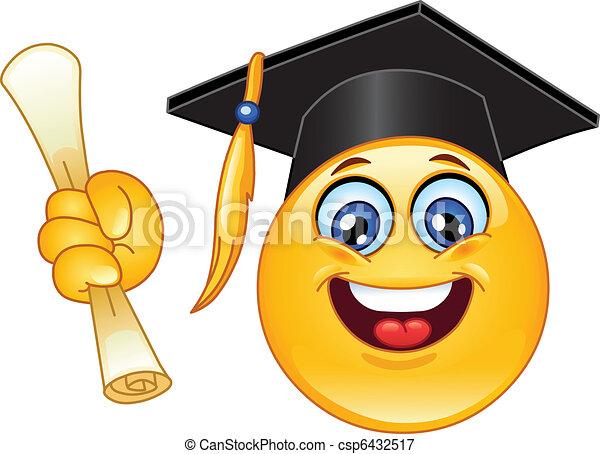Abschluss-Emoticon - csp6432517