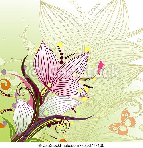 Abstract Blumenmuster. - csp3777186