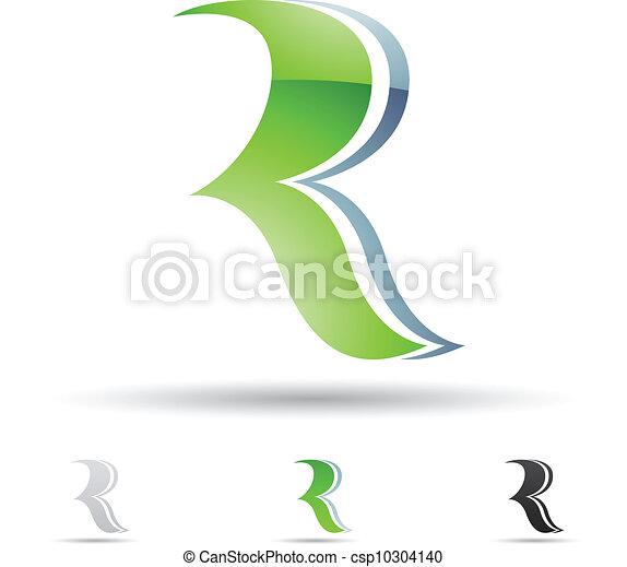 Abstract Icon für Buchstabe R. - csp10304140
