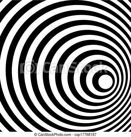 Abstract Ring Spirale schwarz und weiß Muster Hintergrund. - csp17768187
