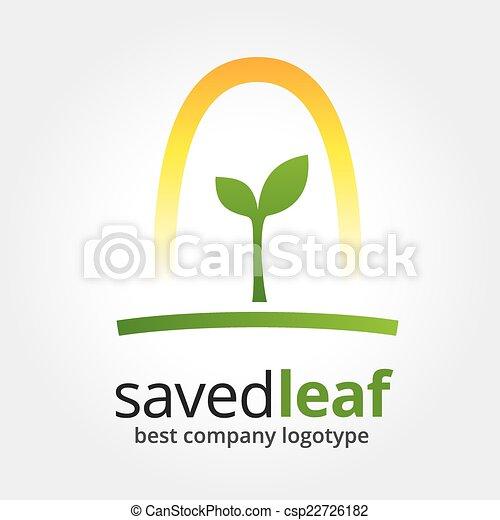 Abstract Vektor Natur Logotyp isoliert auf weißem Hintergrund - csp22726182