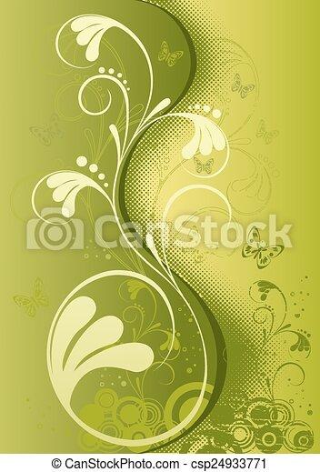 Abstrakter Blumenhintergrund - csp24933771
