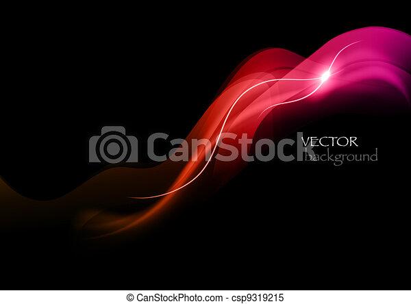 abstrakt, rotes , rauchwolken - csp9319215