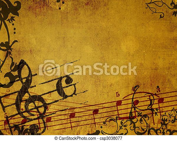 Abstrakte graue Melodien und Hintergrund - csp3038077