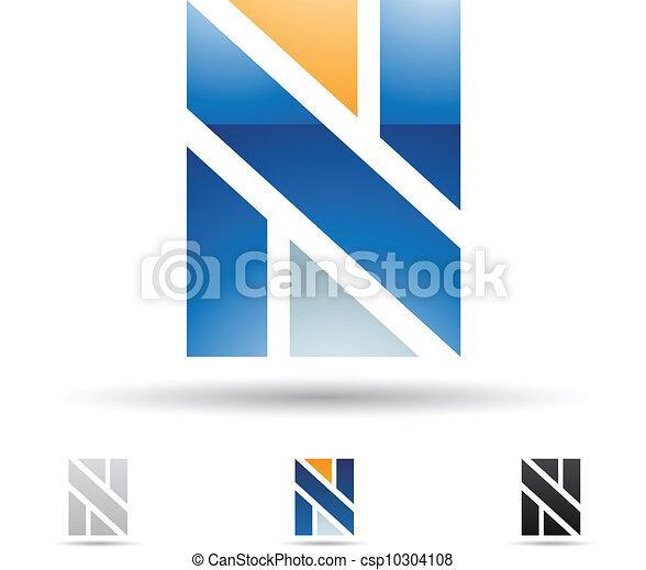 Abstrakte Ikone für Buchstaben N - csp10304108