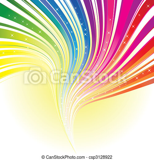 Abstrakte Regenbogenfarbe mit Sternen - csp3128922