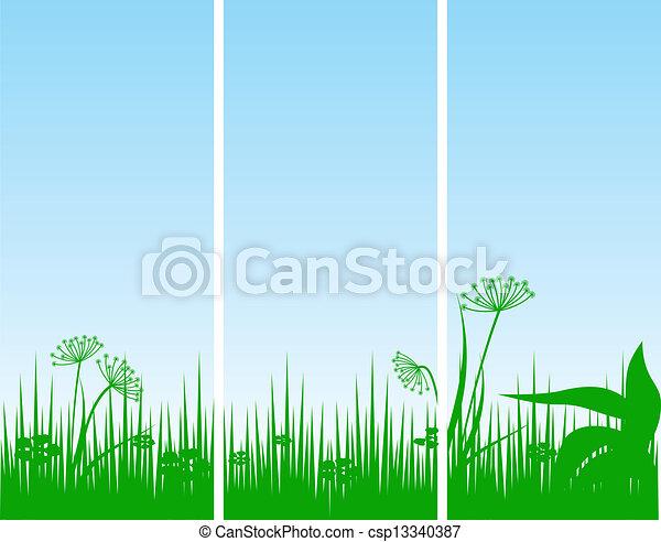 Abstrakter Blumen Hintergrund - csp13340387