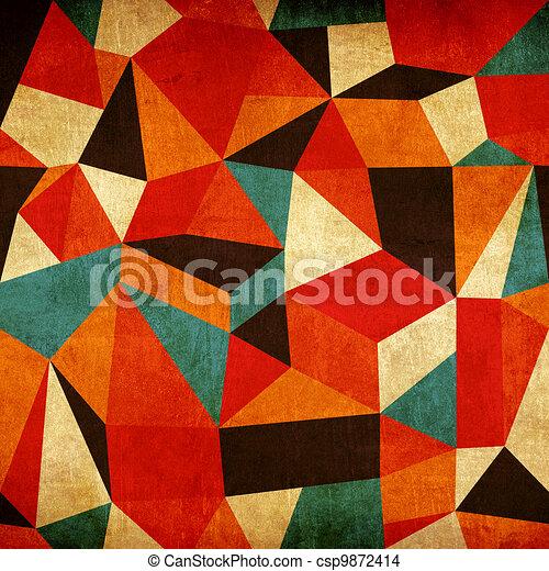 Abstrakter, farbenfroher Hintergrund - csp9872414
