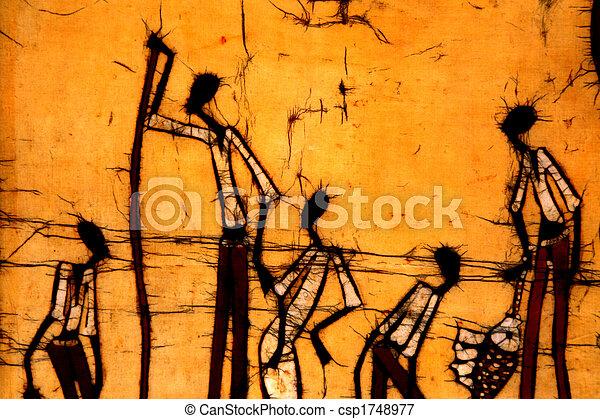 Afrikanischer Kunst-Bedik - csp1748977