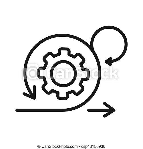Agile Entwicklung Illustration Design. - csp43150938