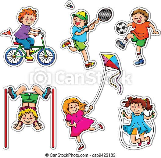 Aktive Kinder - csp9423183