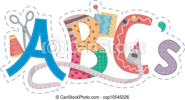alphabet, handwerke - csp10545026