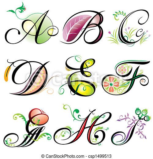 Alphabetisiert Elemente A-I - csp1499513