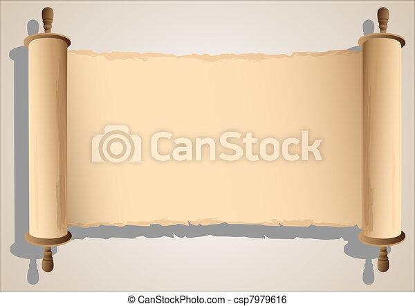 Alte Scroll-Banner - csp7979616
