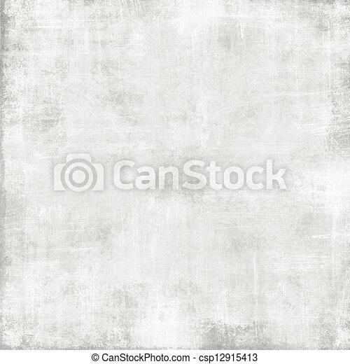 Alte, weiße Papierbeschaffenheit - abstrakter Grunge-Hintergrund - csp12915413