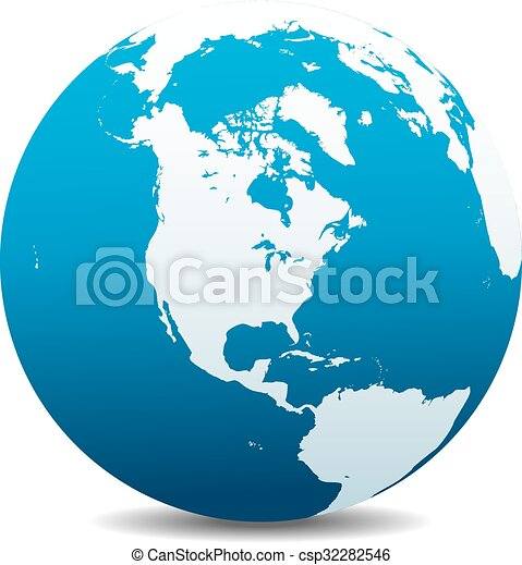 Nord, Süd Amerika, Welt - csp32282546