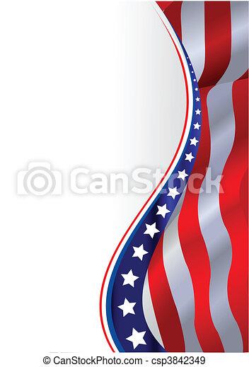 Amerikanische Flagge. - csp3842349