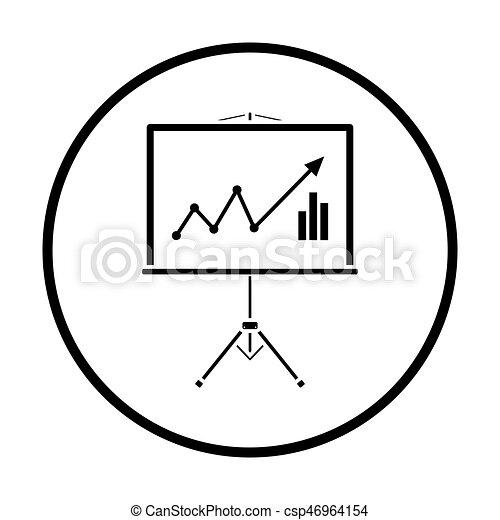 Analytiker stehen Ikonen - csp46964154
