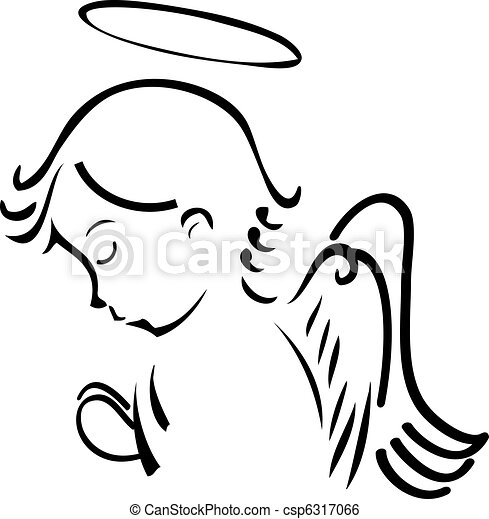 Angel betet - csp6317066